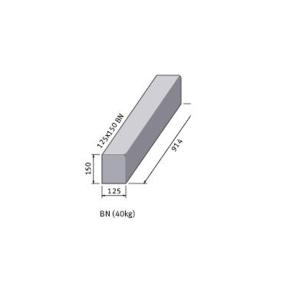 Marshalls British Standard Bull Nosed Concrete Kerb 125mm x 255mm x 915mm