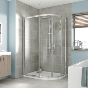 iflo Edessa Offset Quadrant Shower Enclosure 1200 x 900mm