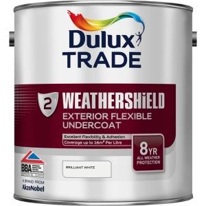 Dulux Weathershield External Undercoat Paint Brilliant White 2.5L