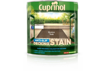 Cuprinol Anti Slip Decking Stain Boston Teak 2.5L 5092617