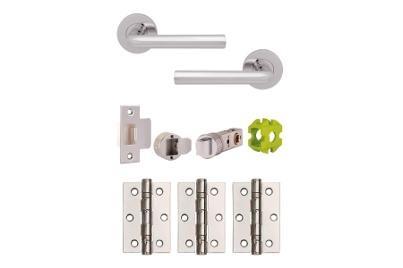 Jigtech Riva Lever On Rose Handle Polished Chrome