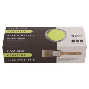 Hamilton Prestige Pure Synthetic Paint Brush 5 Pack