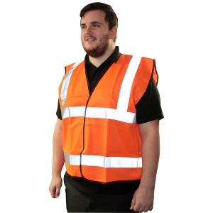 Armour Up HI-VIZ Orange Safety Vest Large