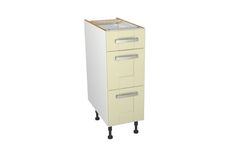 Self Assembly Kitchens Ohio 300 3 Drawer Base