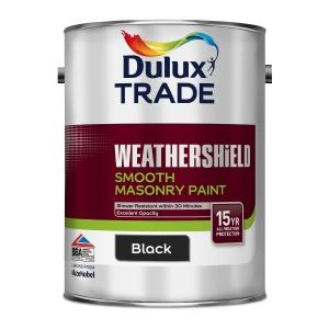 Dulux Smooth Masonry Paint Black 5L
