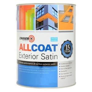 Zinsser Allcoat Exterior Wb Satin White 1LT