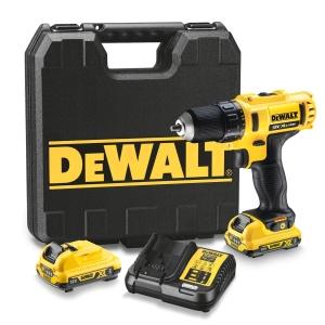 "DeWalt DCD710D2-GB 12V Drill Driver 2 x 2.0AH BATTERIES, Multi Voltage Charger & Kit Box"""