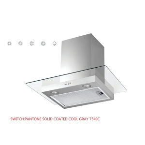 Unbranded 60cm Glass Chimney Hood Stainless Steel - NVMD600NX