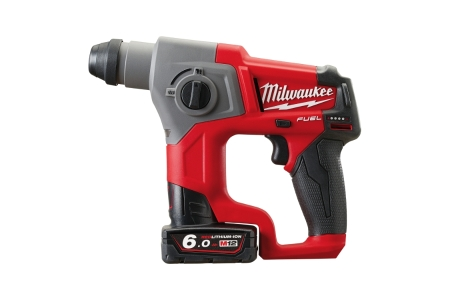 Milwaukee M12 Fuel Compact SDS Rotary Hammer Drill with 2 x 6.0AH Batteries 4933451907