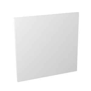 Self Assembly Kitchens Orlando White 600 Semi Integrated Dishwasher Fascia 600x584