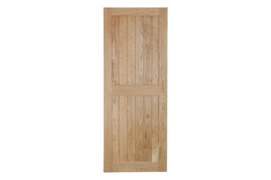 Heritage Custom Size V Grooved Select Rustic Framed Ledged Oak Door