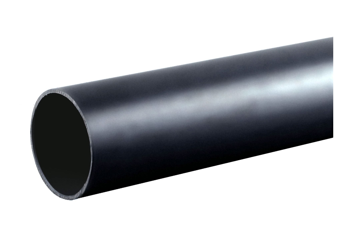 Osma Waste push-fit plain ended pipe black 32mm 3 Metre