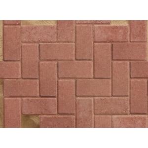 Marshalls Standard Concrete Block Paving Red 200mm x 100mm x 50mm PV1053500