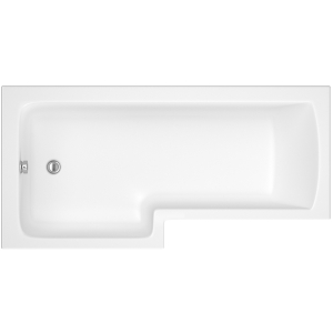 iflo Metz L Shaped Showerbath LH 1700 x 700 mm