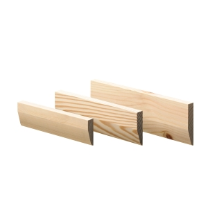 Timber Architrave Chamfered and Round 19 x 50mm x 3m Finished Size 14.5mm x 44mm