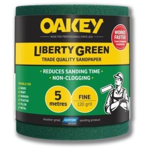 Oakey Liberty Green Roll 115mm x 5m P120.