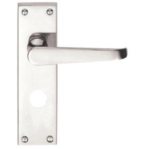 4trade Victorian Lever Bathroom Lock Handle Chrome