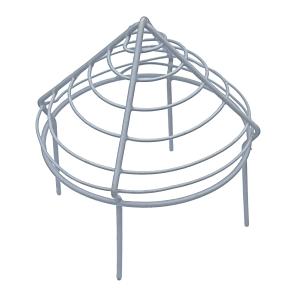 Pipe Cap Plastic Coated Wire 4in