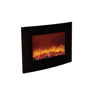 Be Modern Quattro 2kW Wall Mountedelectric Fire Black 35130