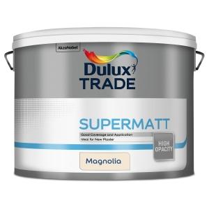 Dulux Trade Supermatt Emulsion Paint Magnolia 10L