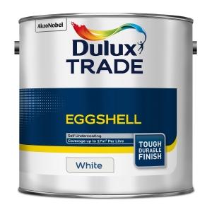 Dulux Trade Eggshell Paint White 2.5L