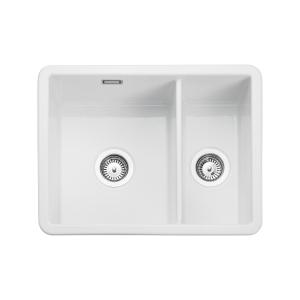 Rangemaster Rustique 1.5 Bowl Inset Or Undermount Sink White 595 x 460mm