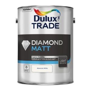 Dulux Diamond Matt Paint Light & Space Absolute White 5L