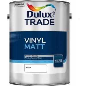 Dulux Trade Vinyl Matt Emulsion Paint White