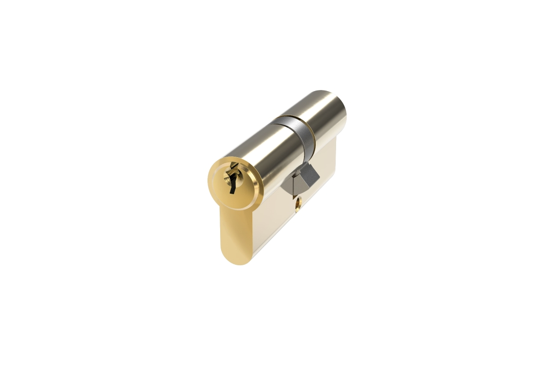 Mila Pro-linea 6 Pin Double Euro Cylinder 35/35 Polished Brass