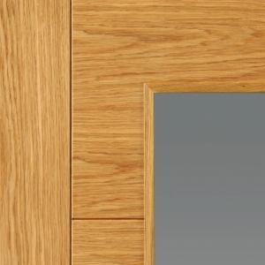 Internal Oak Bela Prefinished Glazed Door 35 x 1981 x 686mm