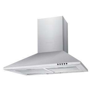Unbranded 60Cm Chimney Hood With Push Button Controls Stainless Steel NCE60NX