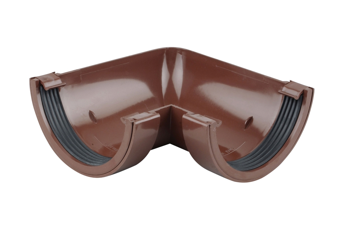 Osma RoundLine 0T003 Gutter Angle 90° 112mm Brown