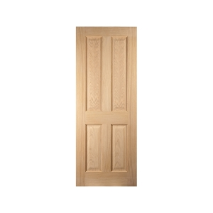 Jeld-wen Oregon 4 Panel American White Oak Interior 44mm Fire Door Fd30 2040x726mm