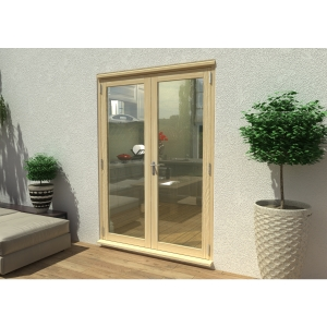 Travis Perkins 54mm Unfinished External French 1500mm Door Set