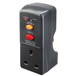 Masterplug 13A Plug RCD Safety Adaptor 3120W 240V AC