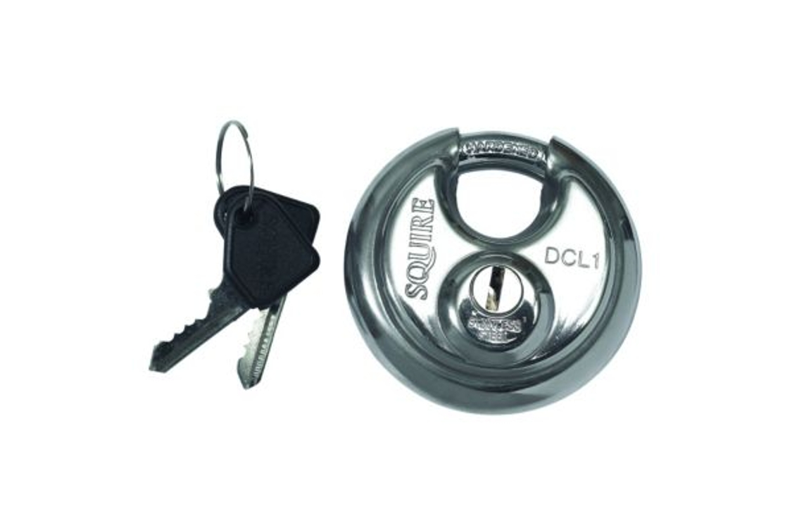 Squire DCL1 Disc Padlock 100 x 36 x 169mm