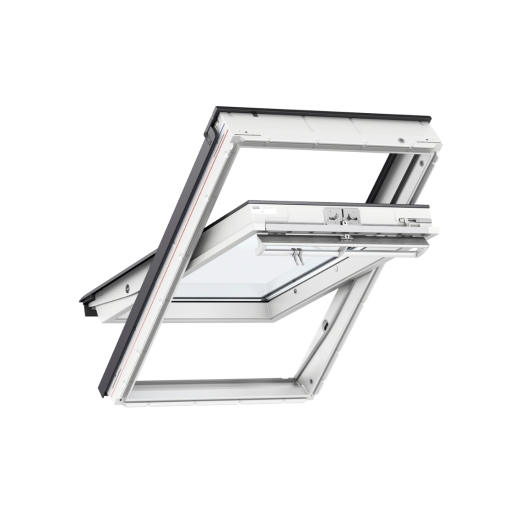 VELUX Centre Pivot Roof Window 780mm x 980mm White Polyurethane GGU MK04 0062