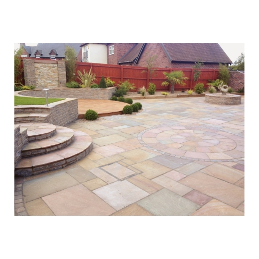 Natural Paving Indian Sandstone Project Pack Buff 15.8m2