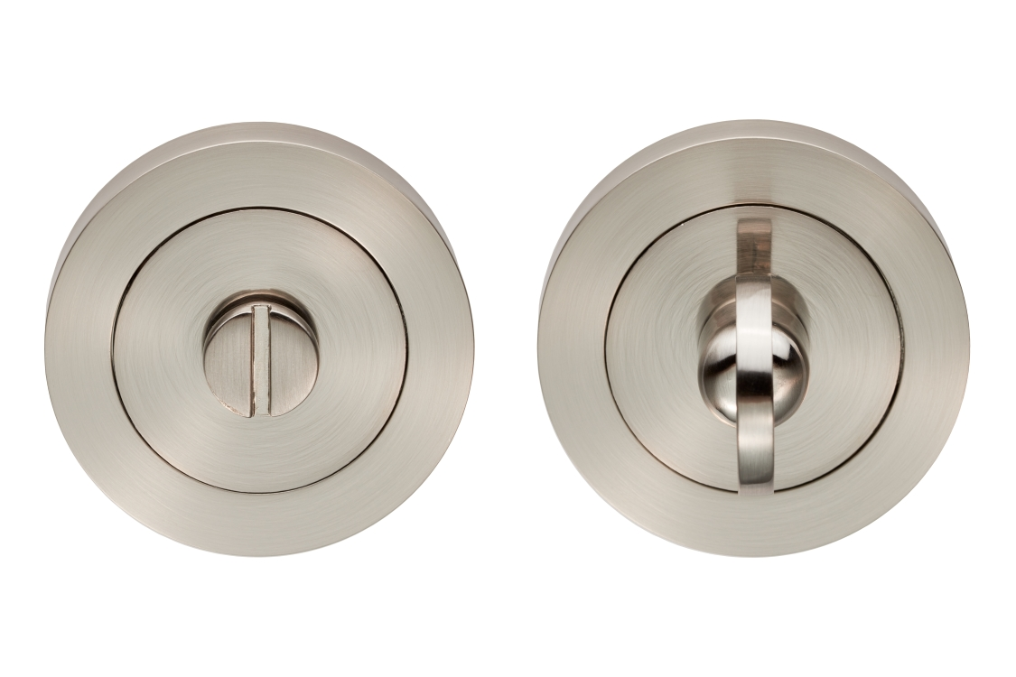 Carlisle Brass Turn & Release On Concealed Fix Round Rose Satin Nickel