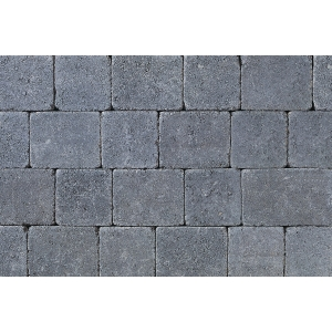 Tobermore Tegula Decorative Concrete Block Paving in Charcoal - 140x140x50mm