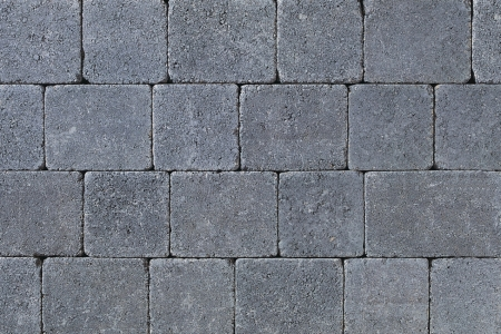 Tobermore Tegula Decorative Concrete Block Paving in Charcoal - 140x140x50mm