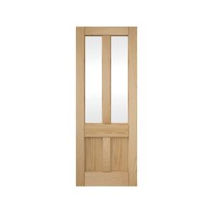4 Panel Clear Glazed Oak Deco Interior Door