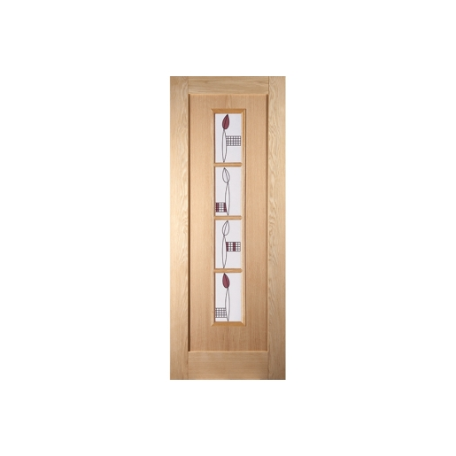 Jeld-wen Oregon Shaker 4 Light Mackintosh Decorative Glazed Door 1981x686mm