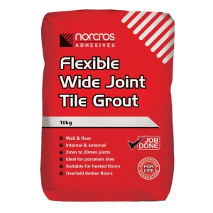 Norcros Flexible Floor & Wall Grout Grey 10kg