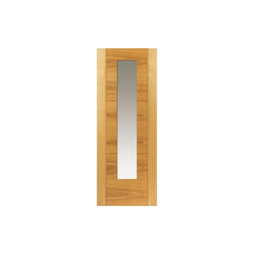 Internal Oak Mistral Internal Prefinished Glazed Door 35 x 1981 x 762mm