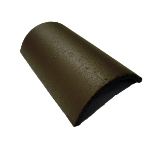 Marley Segmental Ridge Roofing Tile Smooth Brown - Pallet of 120
