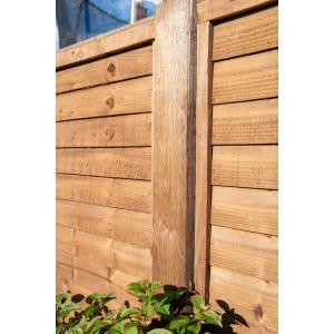 Treated Incised UC4 Fence Post Brown 100mm x 100mm