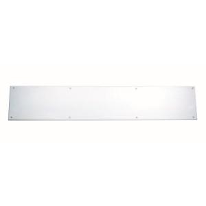4TRADE Kicking Plate Satin Anodised Aluminium 825mm x 152mm 523494