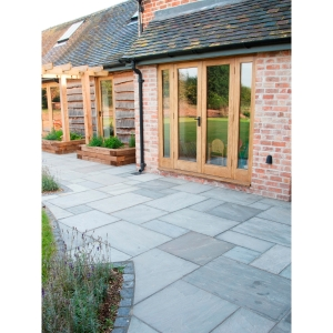 Marshalls Indian Sandstone 5 Size Paving Project Pack Multi Grey 15.23m2