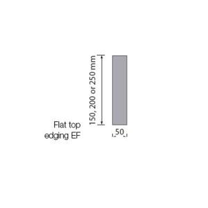 TP Concrete Edging BS Flat Top 50mm x 250mm x 914mm EF